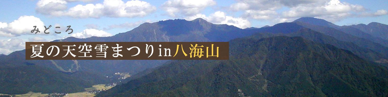 夏の天空雪まつりin八海山
